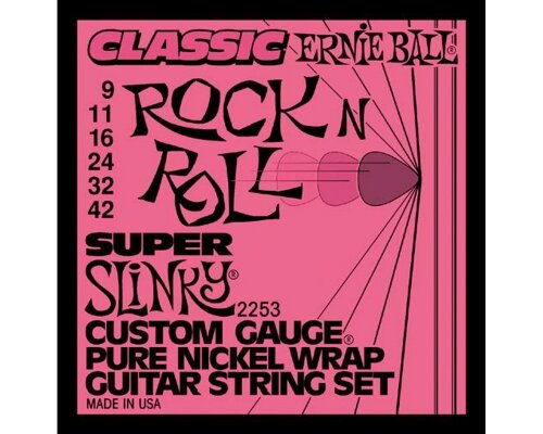 струны Ernie Ball 2253 Super Slinky Pure Nickel