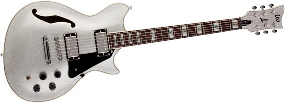 ESP: Xtone PC-2 Semi-Hollow  Silver Sparkle